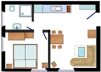 35 qm wohnung einrichten raum und m beldesign inspiration. Black Bedroom Furniture Sets. Home Design Ideas
